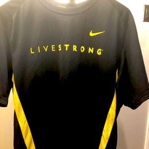 EUC Nike Livestrong dri-fit performance shirt Sz L